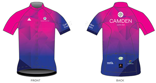 Camden Cruisers pink cycling jersey