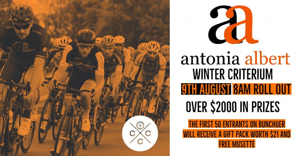 Antonia Albert Winter Criterium race