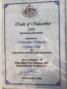 Order of Macarthur 2008