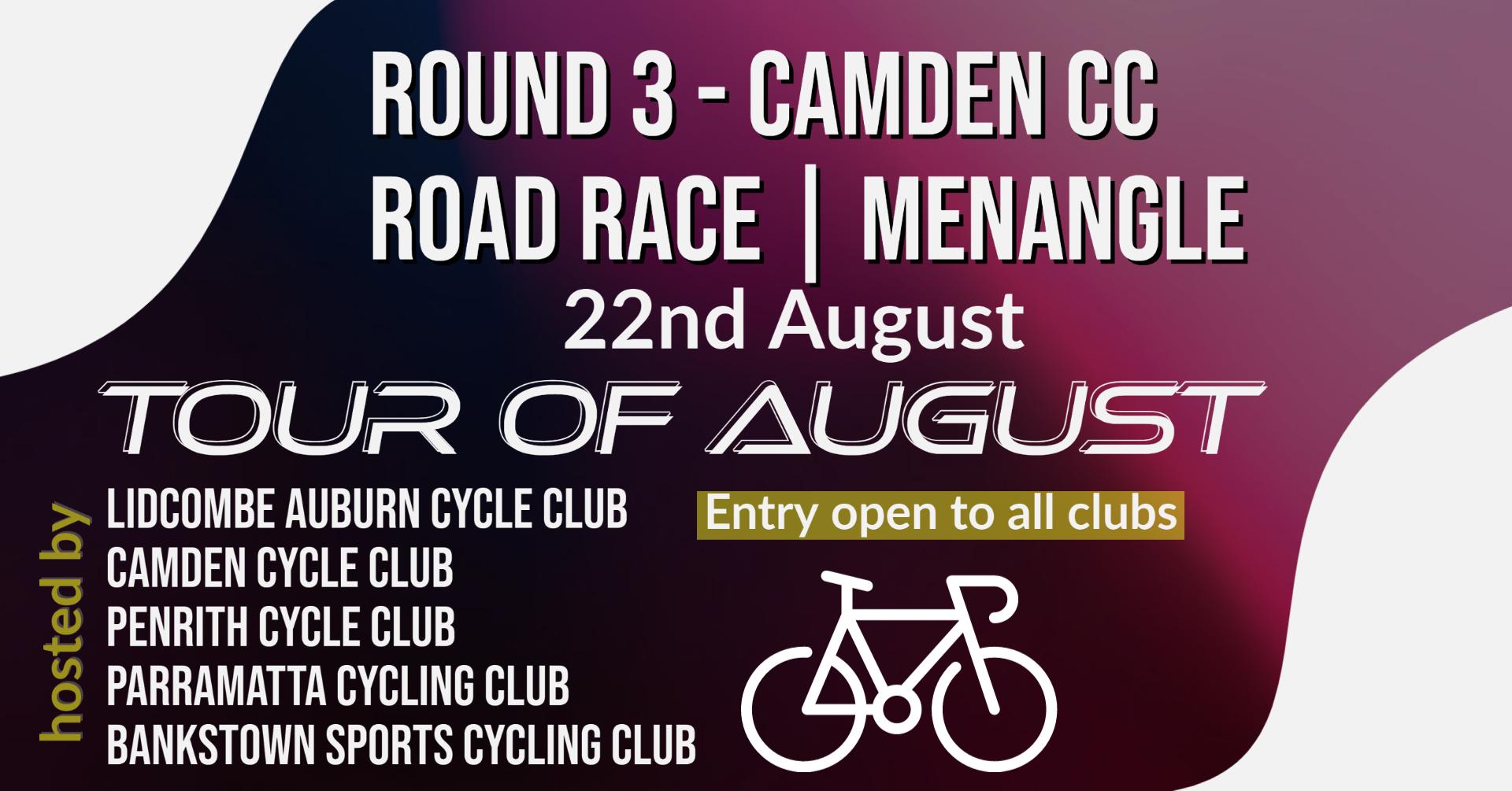 Tour of August round 3 camden cc